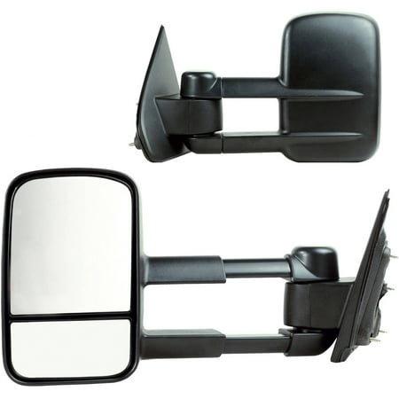 62137-38G - Fit System 14-17 Chevrolet Silverado 1500, 2500, 3500, GMC Sierra 1500, 2500, 3500, extendable towing Mirror, 1st design, OEM Style Towing, Pair - check description for fitment