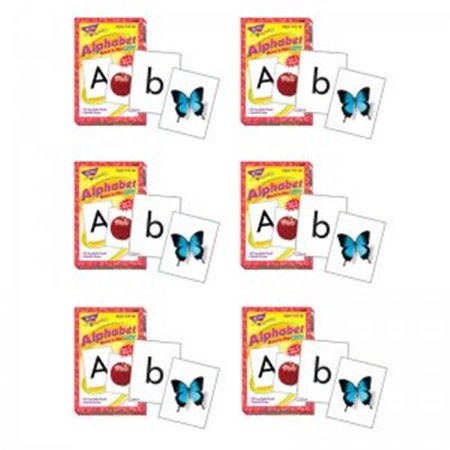 Trend Alphabet Match (Trend Enterprises T-58001BN Match Me Cards - Alphabet 52 Per Box 2-Sided Cards Ages 4 & Up - 6 Each)