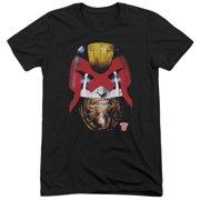 Judge Dredd Dredd's Head Mens Tri-Blend Short Sleeve Shirt