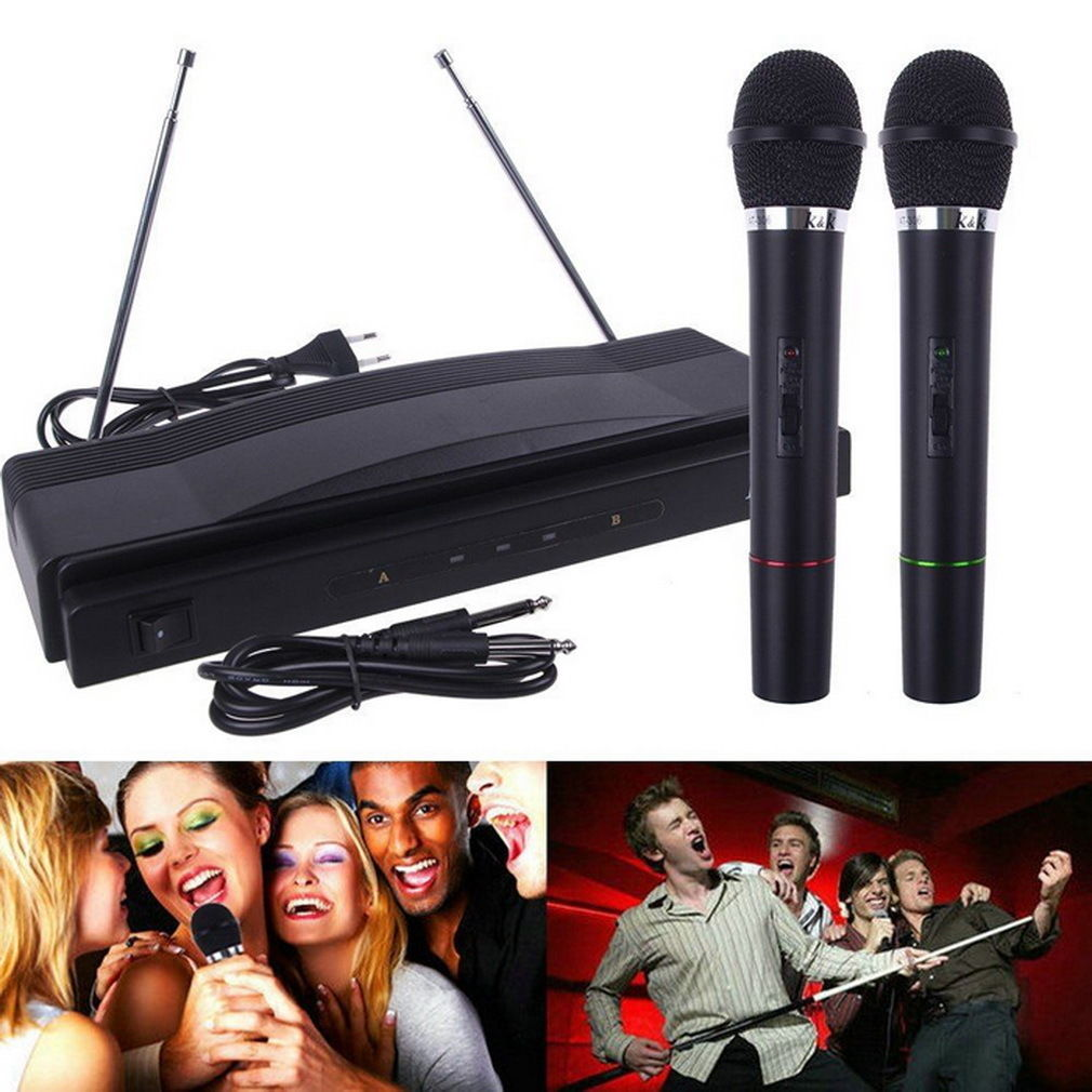 Professional Wireless Microphone System Dual Handheld