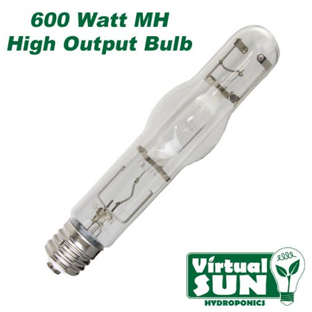 Virtual Sun 600W MH Metal Halide Grow Lamp Light Bulb - 600 Watt