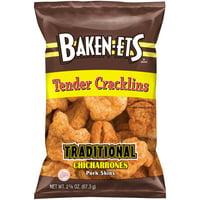 Baken-Ets Tender Cracklins Traditional Chicharrones Pork Skins 2.375 oz. Bag