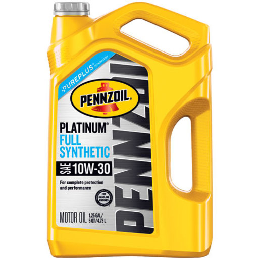 (3 Pack) Pennzoil Platinum 10W-30 Full Synthetic Motor Oil, 5 qt