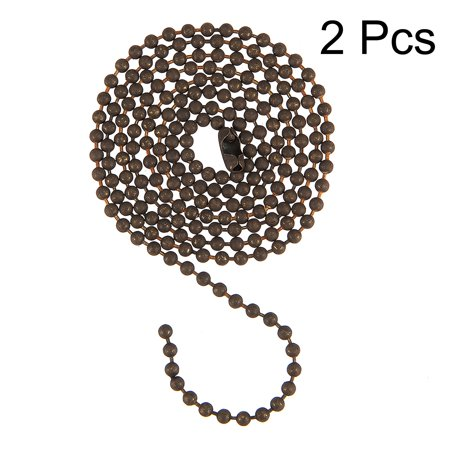 Unique Bargains 2pcs Bronze 3 Feet Long Bead Chain Clasp Keychain Extension for Ceiling Fan