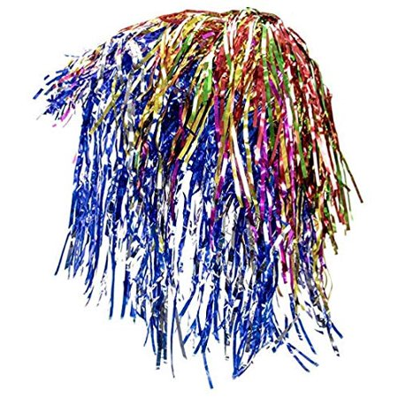 12 Pack of Glam Tinsel Party Wigs Halloween Costume Accessory - Dress Up Theme Party Roleplay & Cosplay Headwear Wig For Adults Or Children