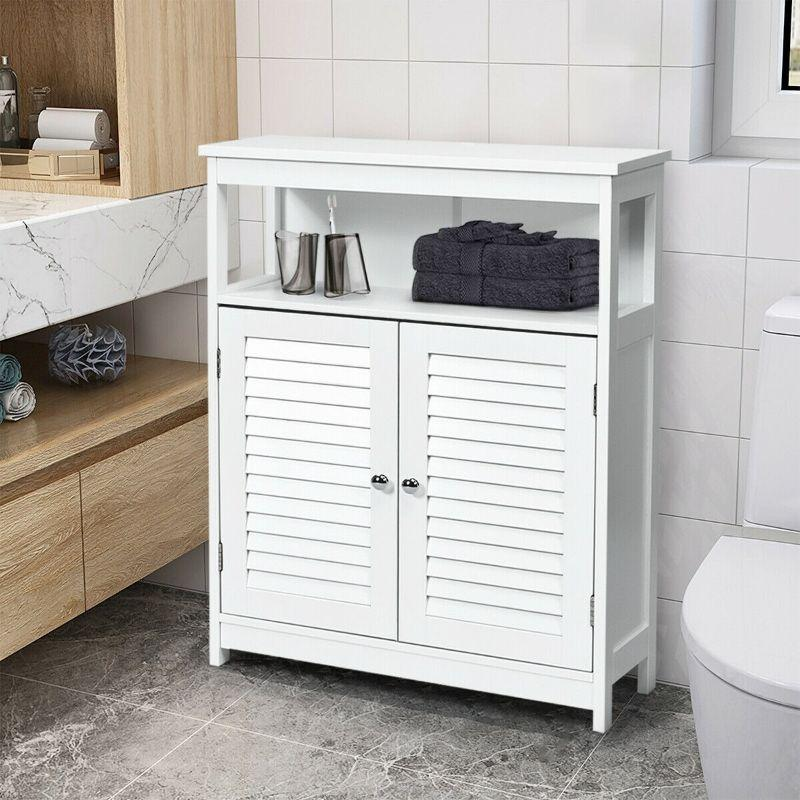 Freestanding Wooden Bathroom Storage, Bathroom Stand Alone Cabinet