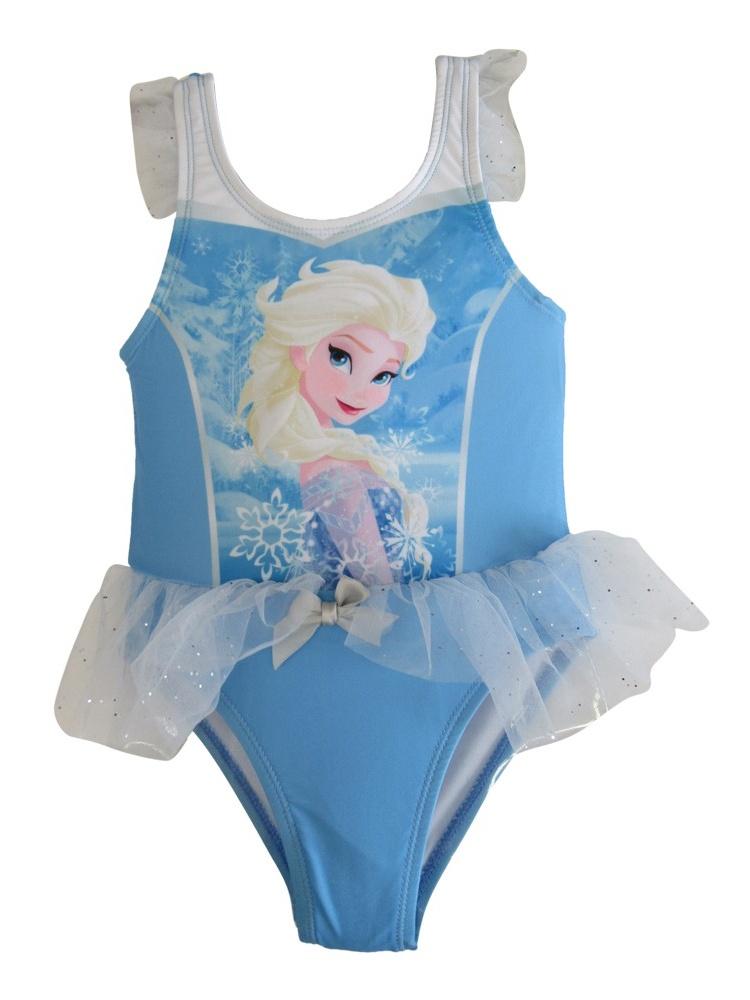 Disney Little Toddler Girls Blue Frozen Elsa Tutu One-Piece UPF50+ Swimsuit