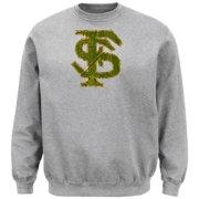 NCAA Florida State University College Long Sleeve Crew Neck Fleece Sweatshirt, Steel Heather, XX-Lar