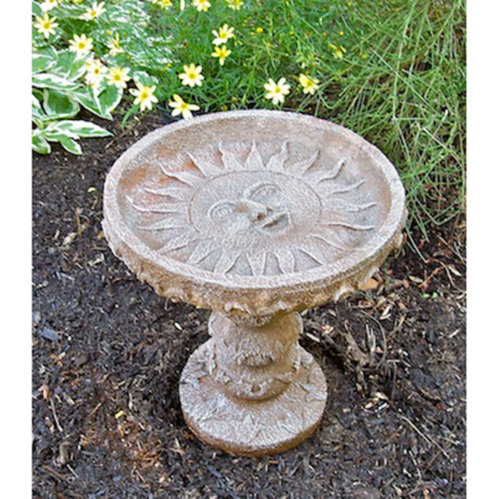 Athena Garden Sun Delight Cast Stone Bird Bath