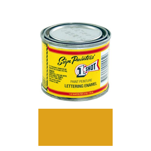 1/4 Pint 1 Shot IMITATION GOLD Paint Lettering Enamel Pinstriping & Graphic Art