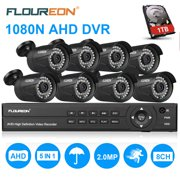 Best Dive Cameras - 8CH Security Camera System FLOUREON HD-TVI 1080P Video Review