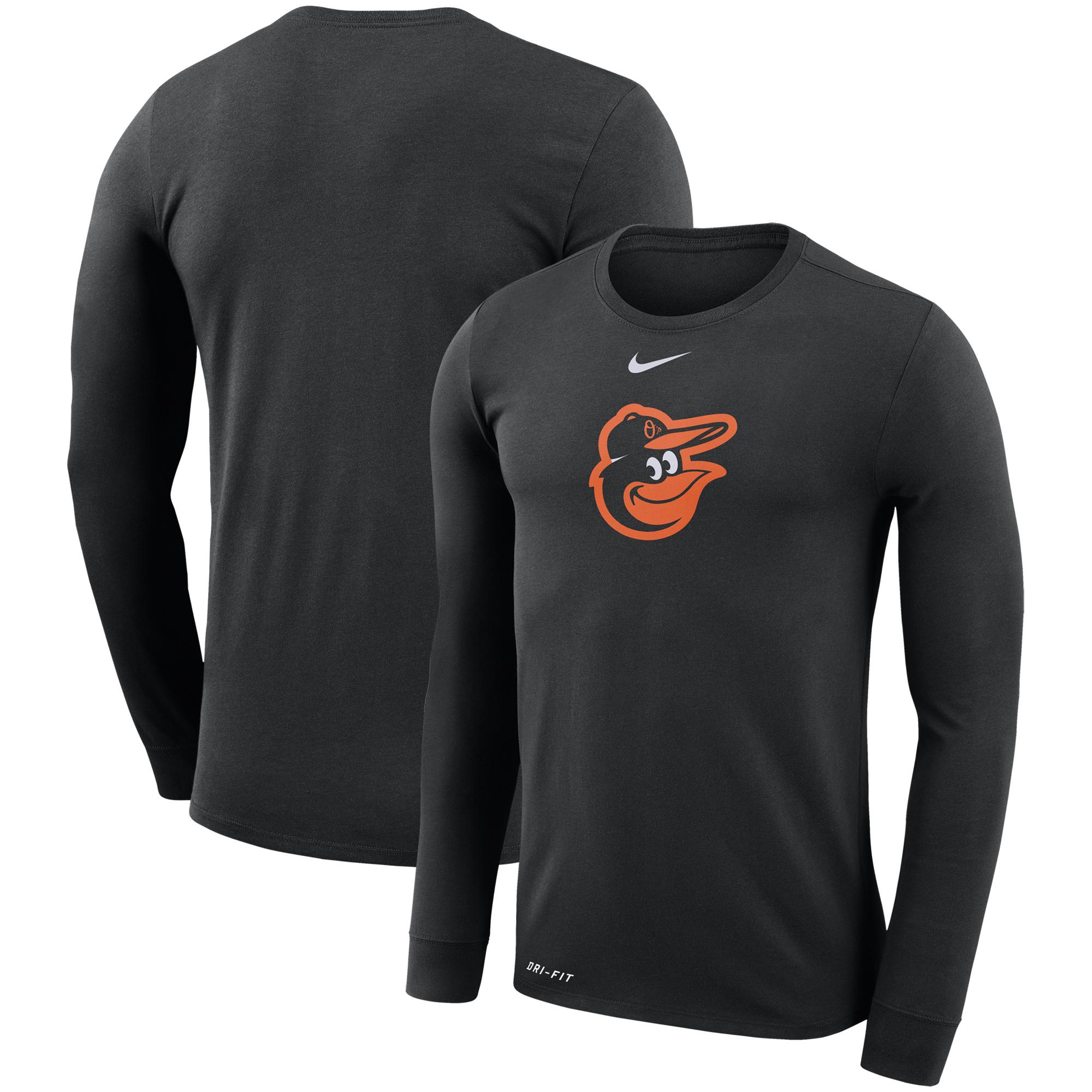 Baltimore Orioles Nike Logo Performance T-Shirt - Black