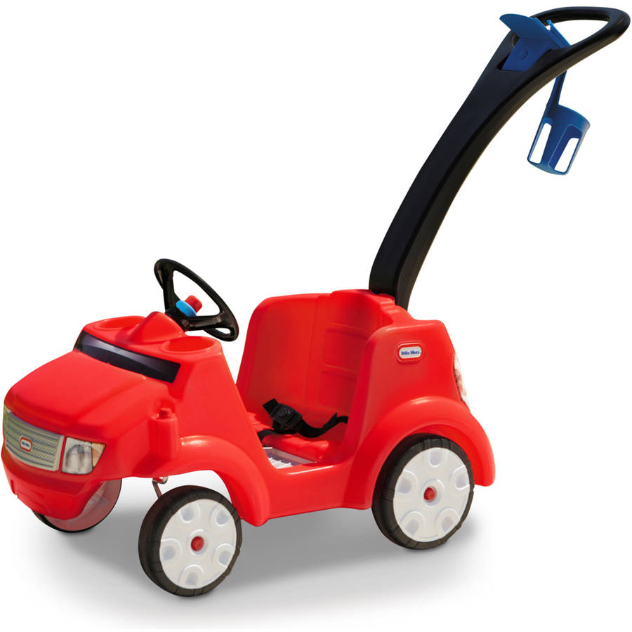Little Tikes 2-in-1 Quiet Drive Buggy, with removable foot-board, Red by Little Tikes