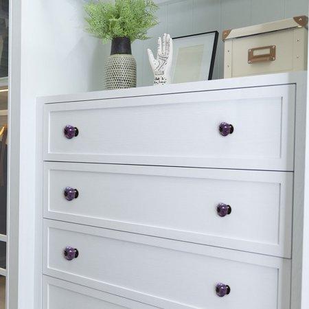 Ceramic Vintage Knob Pumpkin Pull Handle Cupboard Wardrobe Drawer Dresser Purple - image 7 de 8