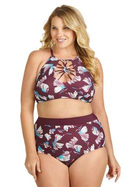 4c2567c5196af Product Image Raisins Curve Juniors Plus Size Domingo Island High Waist  Pant Swim Bottom
