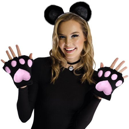 2 Piece Panda Kit Halloween Costume Accessory](Womens Panda Bear Halloween Costume)