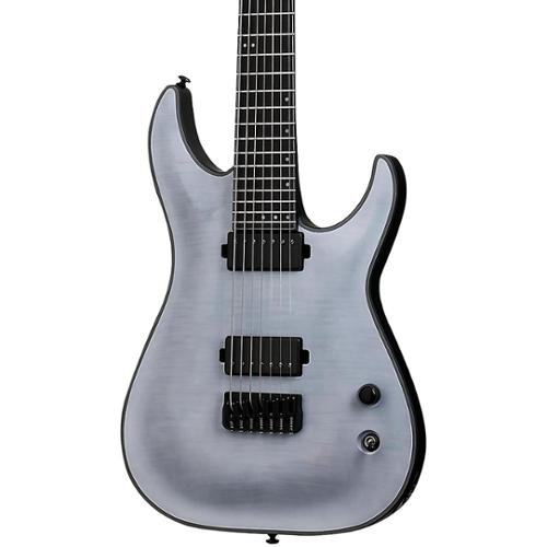 Schecter Keith Merrow KM-7 7 String Electric Guitar, Trans White Satin, 235