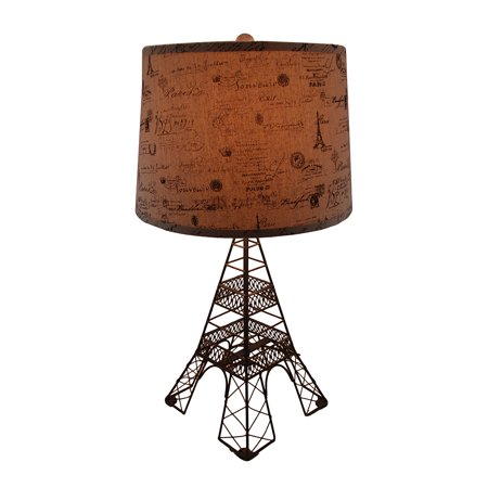 Eiffel Tower Shaped Metal Table Lamp w/Decorative Paris ...