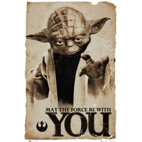 Star Wars Yoda May the Force Be With You Poster Poster Print by