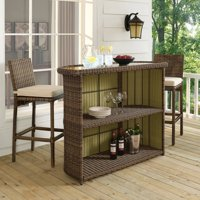 Crosley Furniture Bradenton Outdoor Wicker Bar