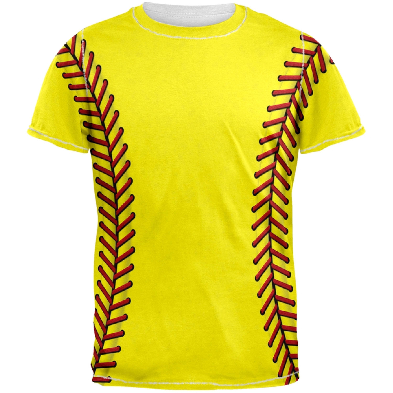 Softball Costume All Over Adult T-Shirt