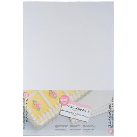 13 x 19 Inch Cake Board, 6-Pack, Cake board comes in set of 6 and provides sturdy support to sheet cakes By Wilton
