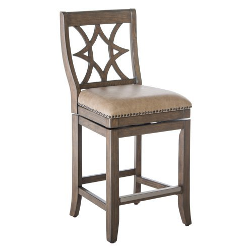 Belham Living Oliver Square Seat Swivel Counter Stool