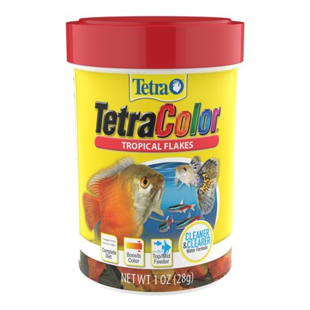 (2 Pack) Tetra TetraColor Tropical Fish Flakes (with Color Enhancer), 1.0-oz.