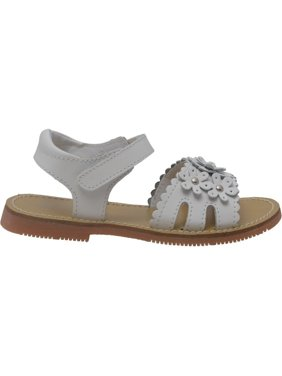 7e6c5b7a67f2fd Product Image L Amour Girls White Scalloped Flowers Closure Sandals 7-10  Toddler