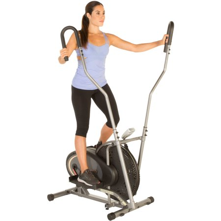 Fitness Reality E1000 Air Elliptical With Extended  Multi Grip  Dual Action Arms