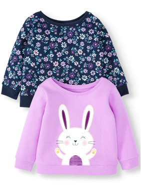 Garanimals Baby Girl Print & Graphic Sweatshirts, 2-pack
