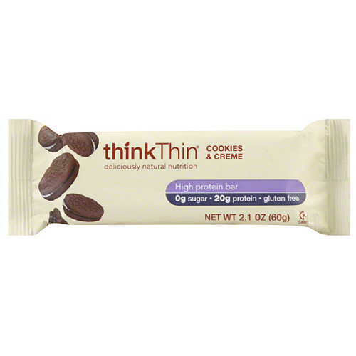 thinkThin Cookies & Cream High Protein Bars, 2.1 oz (Pack of 10)