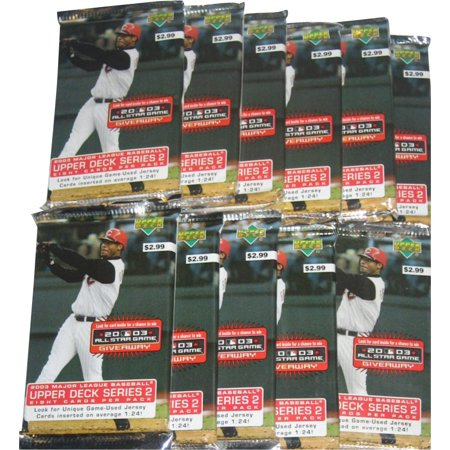 MLB Upper Deck Series 2 All Star (2003) Baseball Trading Card Pack Lot - (11 Packs)