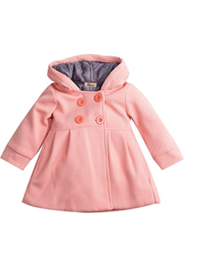 Toddlers Baby Girl Winter Trench Hooded Coats Outfits Clothes Kids Outerwear