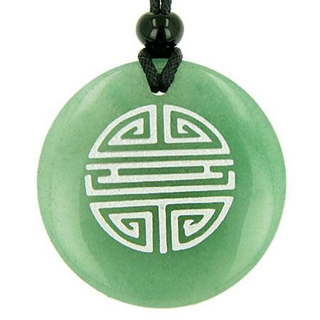 Green Rutilated Quartz Necklace - Long Life Force Magic Amulet Green Quartz Pendant Necklace