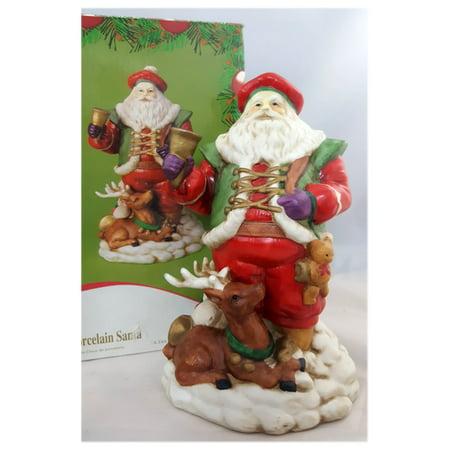 """Vintage JC Penney Porcelain Old World Santa 9"""""""