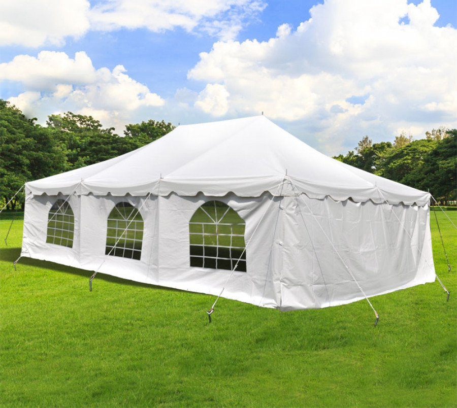 Party Tents Direct 20u0027 x 30u0027 Wedding Event Pole Canopy Tent with Side Walls - Walmart.com & Party Tents Direct 20u0027 x 30u0027 Wedding Event Pole Canopy Tent with ...