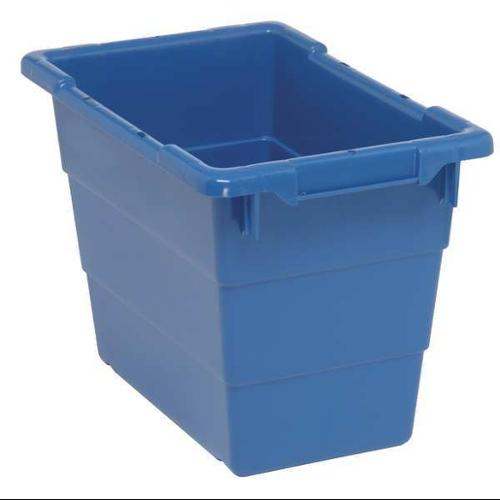 Quantum Storage Systems 5.51 gal Capacity, Cross-Stacking Tote, Blue TUB1711-12BL