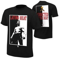 "Official WWE Authentic Eddie Guerrero ""Addicted to the Heat"" Retro T-Shirt Black Small"