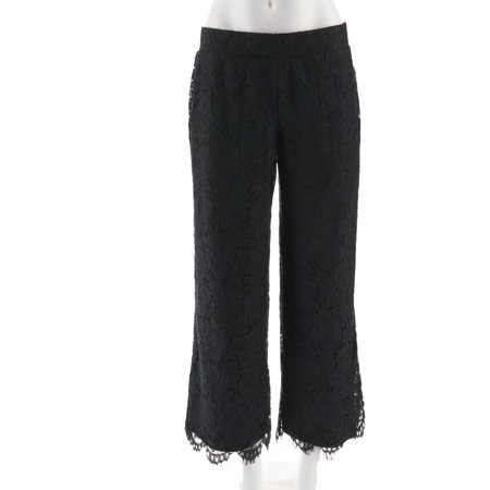 Isaac Mizrahi Floral Lace Wide Leg Pull-On Pants - Laced Leg