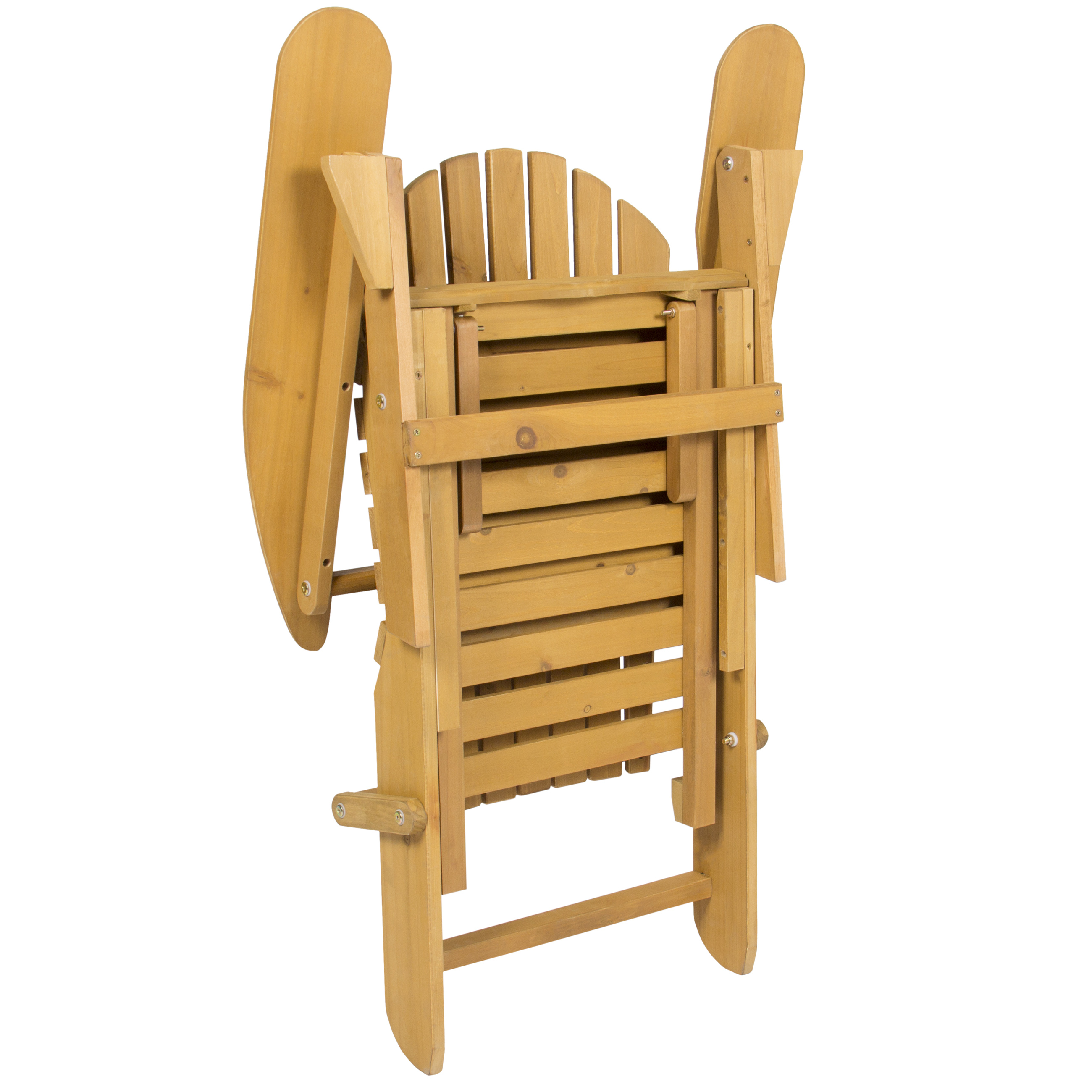 Picture of: Best Choice Products Foldable Outdoor Patio Deck Wood Adirondack Chair W Pull Out Ottoman Natural Walmart Com Walmart Com