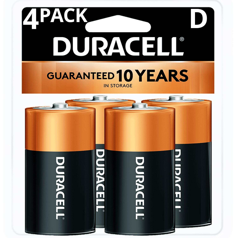 Duracell 1.5V Coppertop Alkaline D Batteries, 4 Pack