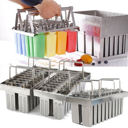 20 Lattice Stainless Steel Molds Ice Pop Maker Ice Lolly Popsicle Molds Ice Cream Stick Holder