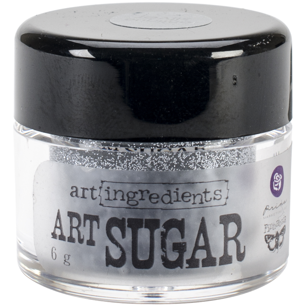 Finnabair Art Ingredients Art Sugar Ultra Fine Glitter .21oz-Antique Silver