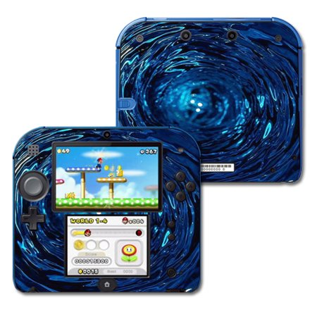 Mightyskins Protective Vinyl Skin Decal Cover for Nintendo 2DS wrap sticker skins Blue Vortex (Ds Vinyl Skin)
