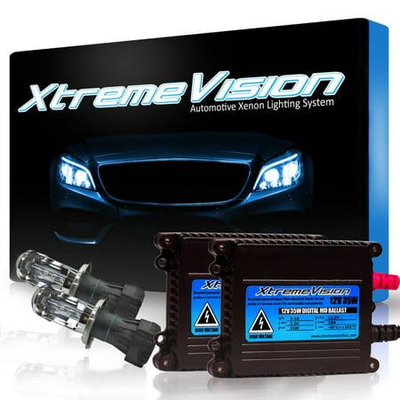 XtremeVision 35W HID Xenon Conversion Kit with Premium Slim Ballast - Bi-Xenon H4 / 9003 4300K - Bright Daylight - 2 Year