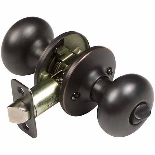 Design House 753459 Cambridge 2-Way Latch Privacy Door Knob, Oil Rubbed Bronze Finish