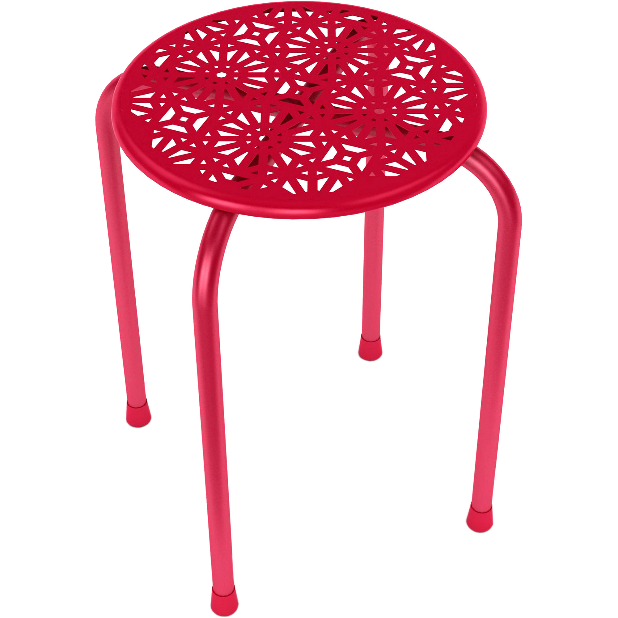 Atlantic Daisy Metal Side Table/Stool, Set of 2, Multiple Colors