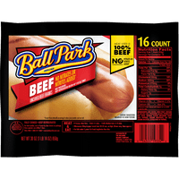 Ball Park Beef Hot Dogs, Original Length, 16 Count