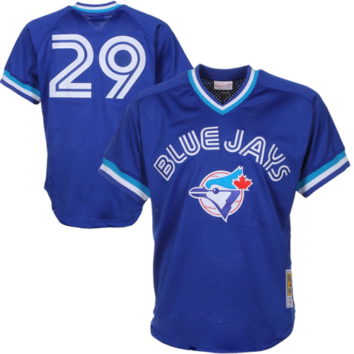 Joe Carter Toronto Blue Jays Mitchell & Ness 1993 Authentic Cooperstown Collection Mesh Batting Practice Jersey - Royal